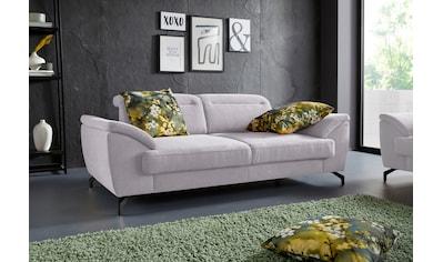 sit&more 2,5-Sitzer, 12 cm Fußhöhe, inklusive Sitztiefenverstellung, wahlweise... kaufen