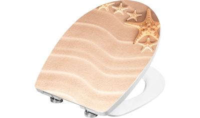 CORNAT Packung: WC - Sitz »WC - Sitz 3D - Dekor SAND«, Thermoplast WC Sitz SAND 3D kaufen