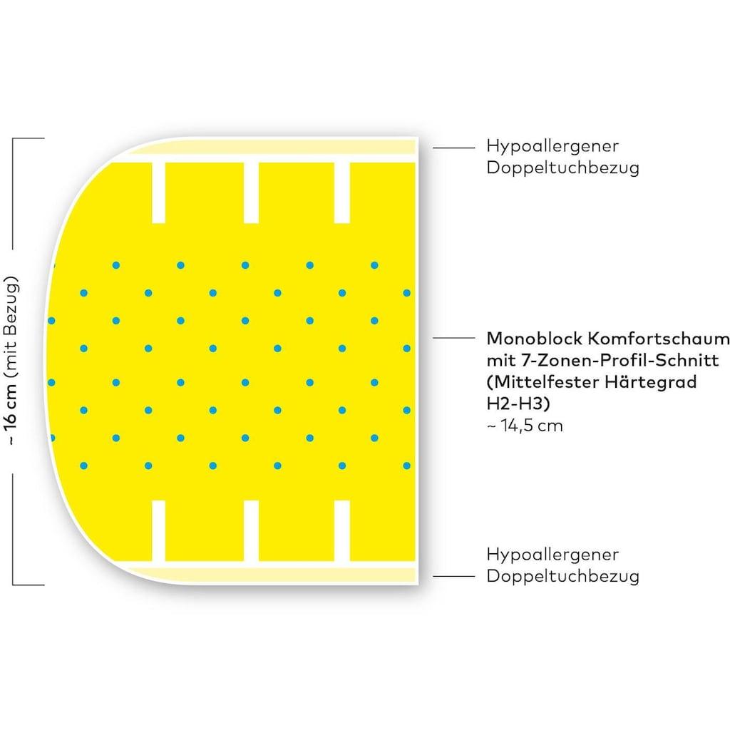 Hilding Sweden Komfortschaummatratze »Malmö Basic«, 16 cm cm hoch, Raumgewicht: 32 kg/m³, (1 St.)