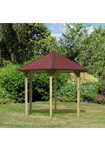 Karibu Holzpavillon »Madrid«, BxT: 349x302 cm, inkl. Dachschindeln und Pfostenanker kaufen