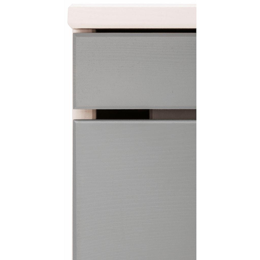 Home affaire Unterschrank »Josie«, Breite 30 cm, aus Massivholz, verstellbarer Einlegeboden, Metallgriffe, 1 Schublade & 1Tür