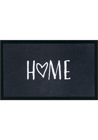 my home Fußmatte »Magne«, rechteckig, 5 mm Höhe, Fussabstreifer, Fussabtreter, Schmutzfangläufer, Schmutzfangmatte, Schmutzfangteppich, Schmutzmatte, Türmatte, Türvorleger, mit Spruch kaufen