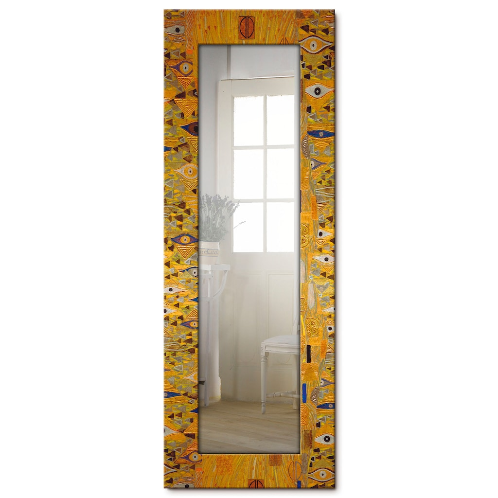 Artland Wandspiegel »Bloch-Bauer«, gerahmter Ganzkörperspiegel mit Motivrahmen, geeignet für kleinen, schmalen Flur, Flurspiegel, Mirror Spiegel gerahmt zum Aufhängen