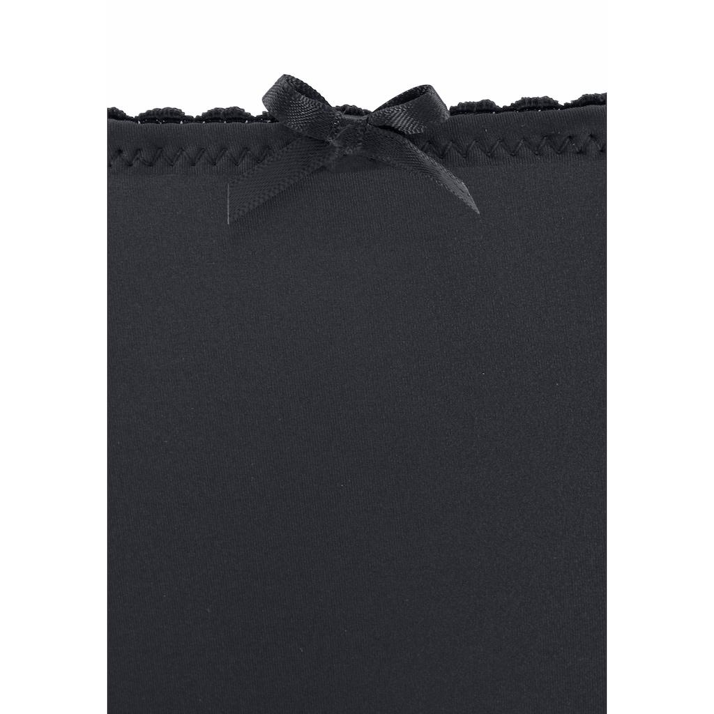 s.Oliver Slip »Everyday Fashion«, mit seitlich aufgesetzten Spitzenbändern