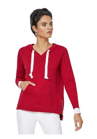 Creation L Pullover mit breitem Kontrastband in der Kapuze kaufen