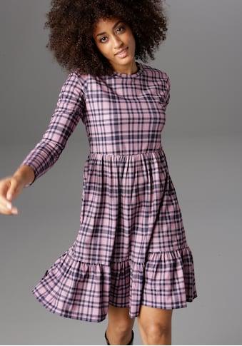 Aniston CASUAL Jerseykleid, im Karo-Dessin kaufen