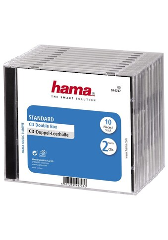 Hama DVD-Hülle, Standard, 10er-Pack, Transparent/Schwarz kaufen