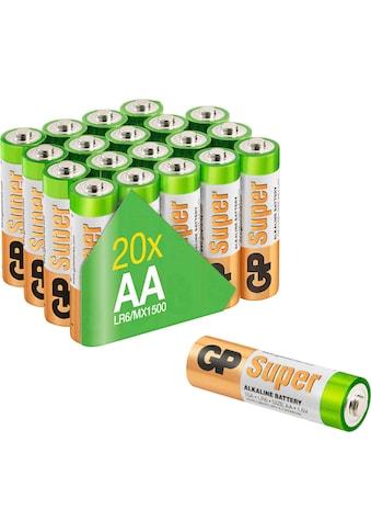 GP Batteries Batterie »Super Alkaline AA«, LR6, 1,5 V, (Set, 20 St.) kaufen