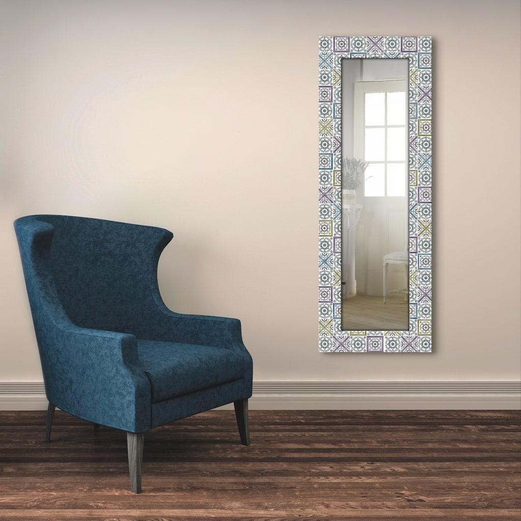 Artland Wandspiegel »Orientalischer Traum«, gerahmter Ganzkörperspiegel mit Motivrahmen, geeignet für kleinen, schmalen Flur, Flurspiegel, Mirror Spiegel gerahmt zum Aufhängen