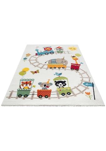 Lüttenhütt Kinderteppich »Zoo-Zug«, rechteckig, 13 mm Höhe, Spielteppich kaufen