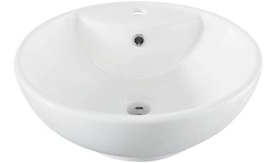 welltime Aufsatzwaschbecken »Milano«, mit Überlauf, rund, Breite 46 cm kaufen
