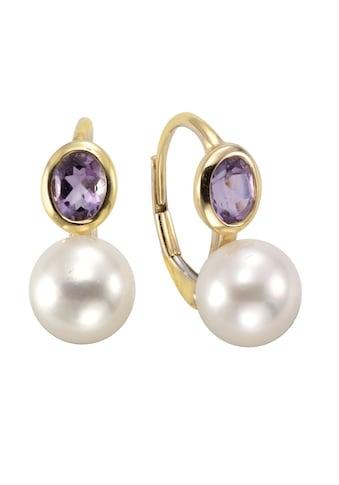 Vivance Paar Ohrhänger »333/- Gelbgold mit Amethyst/Perle«, mit Geschenketui kaufen