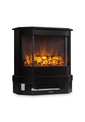 Klarstein Castillo Elektrischer Kamin Halogen - Flammensimulation schwarz »Castillo« kaufen