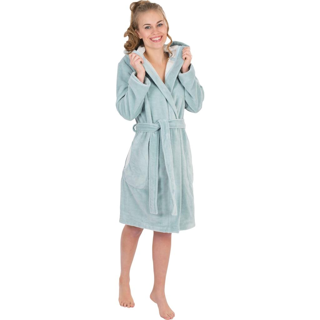 Wewo fashion Damenbademantel »6121«, mit Schubtaschen