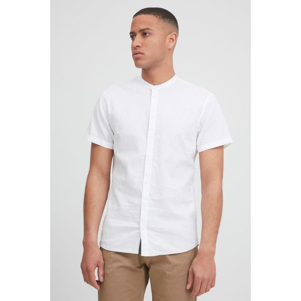 Blend Kurzarmhemd »Kurzarmhemd 20712174«, Herrenhemd Kurzarm mit Stehkragen