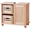 welltime Aufbewahrungsbox »Venezia Landhaus«, (Set, 2 St.), aus Massivholz Kiefer