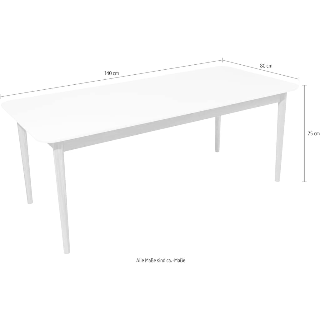 TOM TAILOR Esstisch »COLOR TABLE«, in 2 Breiten, wahlweise mit Auszugsfunktion