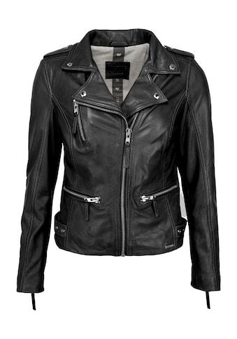 MUSTANG Lederjacke »31020145«, mit Hemdkragen kaufen
