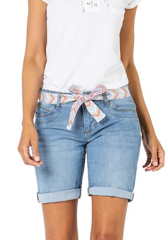 SUBLEVEL Jeansbermudas, mit Gürtel kaufen