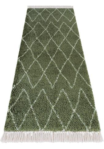 MINT RUGS Hochflor-Läufer »Jade«, rechteckig, 35 mm Höhe, pastell Farben mit Fransen,... kaufen
