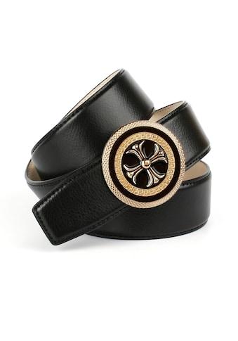 Anthoni Crown Ledergürtel, mit runder goldfarbener Schließe kaufen