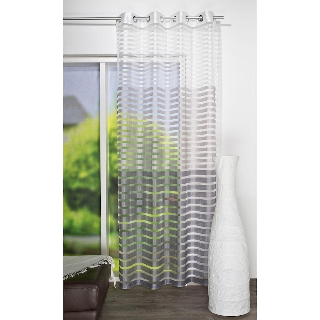HOME WOHNIDEEN Vorhang »STEFANO«, HxB: 245x140, Ösenschal Querstreifen