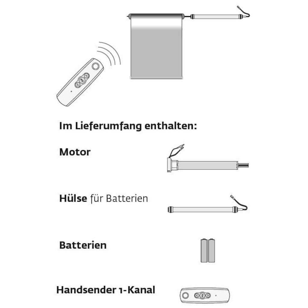 sunlines Batterierollo »Premium Style Batterierollo Circles«, Lichtschutz, mit Bohren, im Fixmaß