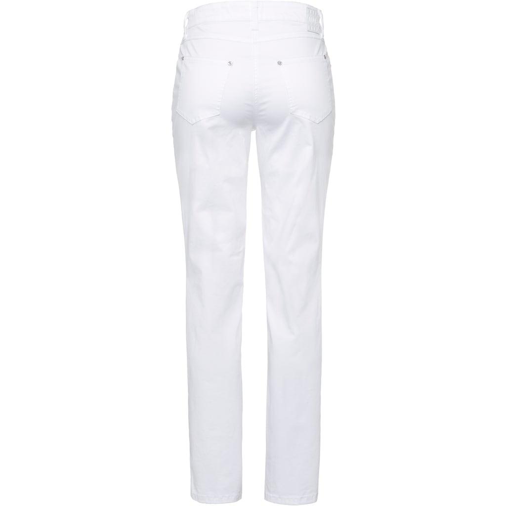 MAC Gerade Jeans »Melanie summer rivet«, Mit Nietenverzierung Ton in Ton