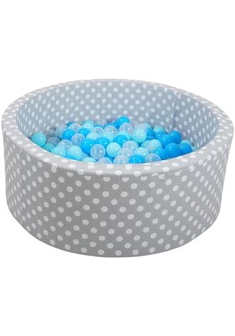 Knorrtoys® Bällebad »Soft, Grey white dots«, mit 300 Bällen soft... kaufen