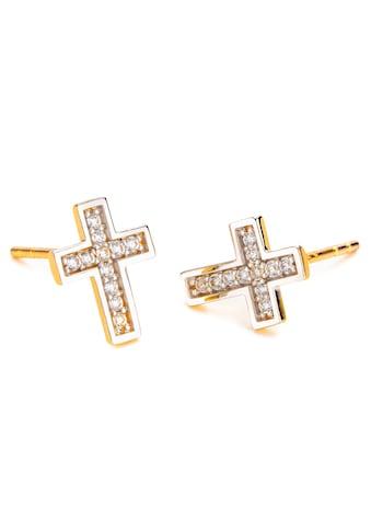 NANA KAY Paar Ohrstecker »Crucifix, Kreuz, FG150«, mit Zirkonia (synth.) kaufen