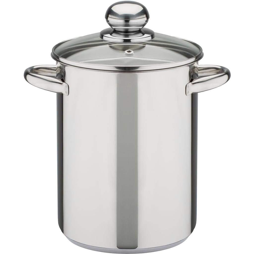 GSW Spargeltopf, Edelstahl 18/8, (1 tlg.), Induktion, 4,2 Liter