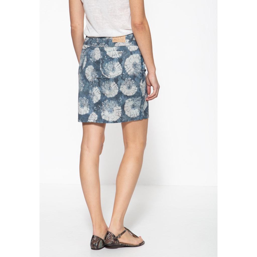ATT Jeans Jeansrock »Megan«, mit floralem Aquarell-Muster