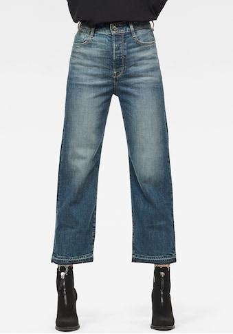 G-Star RAW Ankle-Jeans »Tedie Ultra High Straight Ripped Edge Ankle C Jeans«, mit leicht ausgefransten Saumabschluss am Bein kaufen