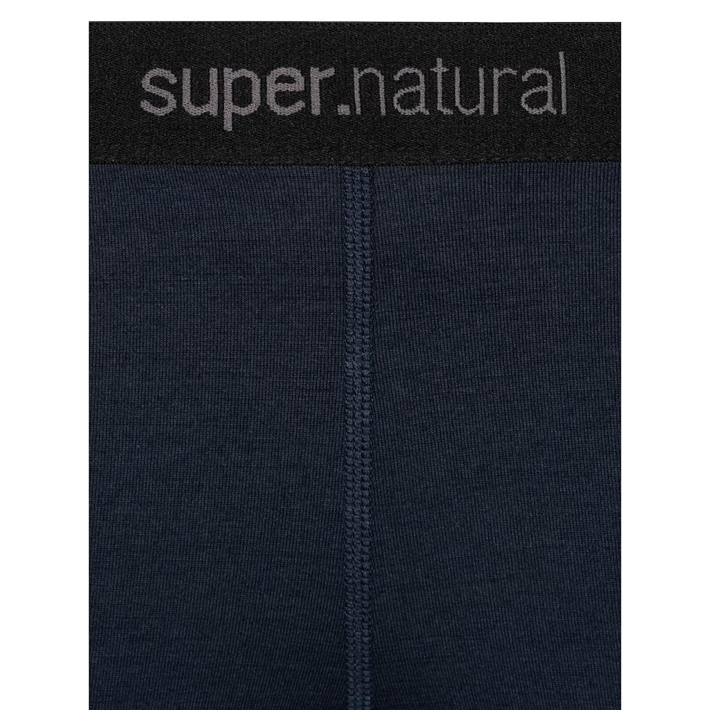 SUPER.NATURAL Funktionstights »W BASE 3/4 TIGHT 230«, pflegeleichter Merino-Materialmix