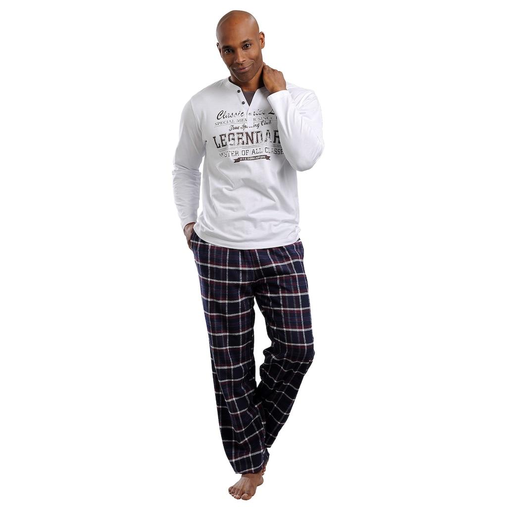H.I.S Pyjama, in langer Form mit Flanellhose
