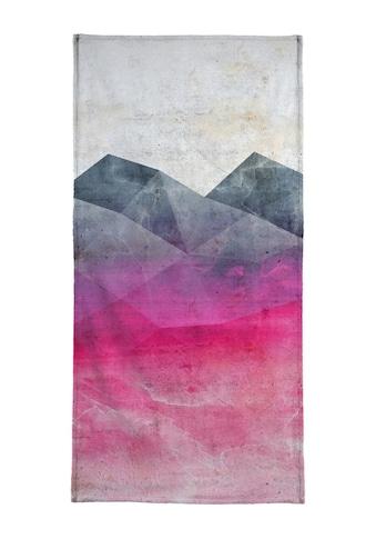 Juniqe Strandtuch »Pink Concrete«, (1 St.), Weiche Frottee-Veloursqualität kaufen