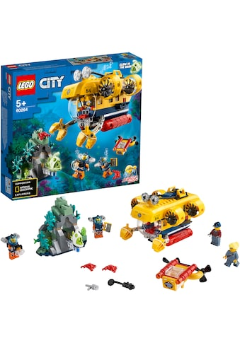 LEGO® Konstruktionsspielsteine »Meeresforschungs-U-Boot (60264), LEGO® City Oceans«,... kaufen
