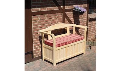 PROMADINO Gartenbank , Kiefernholz, 130x50x93 cm, inkl. Auflagen kaufen