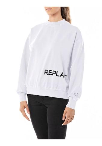 Replay Sweatshirt, mit lässig überschnittenen Schultern kaufen