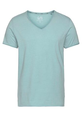 Q/S by s.Oliver V-Shirt, mit modischen Rollkanten kaufen