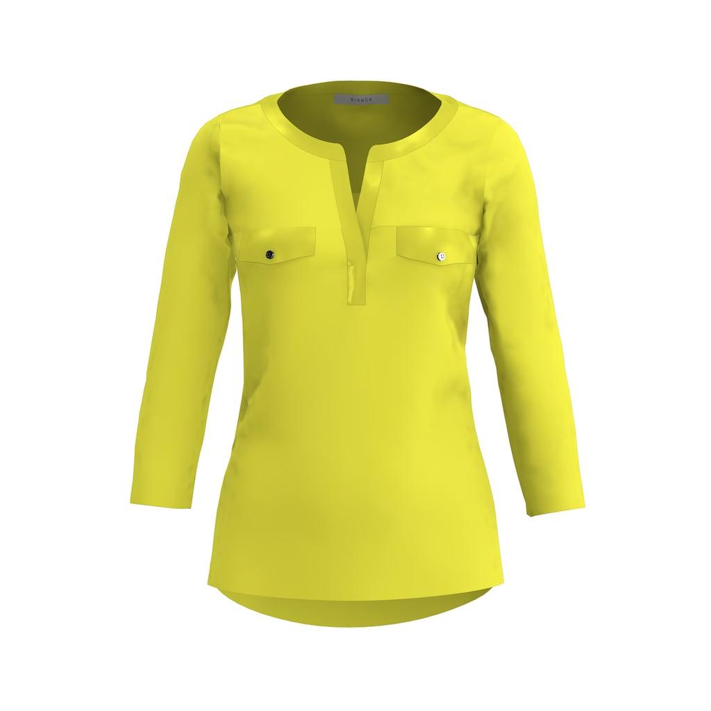 bianca Blusenshirt »ELLY«, in der angesagten Trendfarbe mit 3/4 Arm