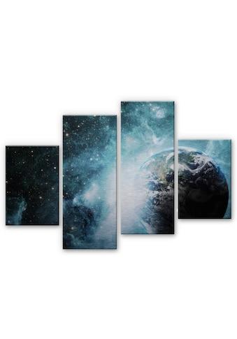 Wall-Art Mehrteilige Bilder »Universum In einer fernen Galaxie«, (Set, 4 St.) kaufen