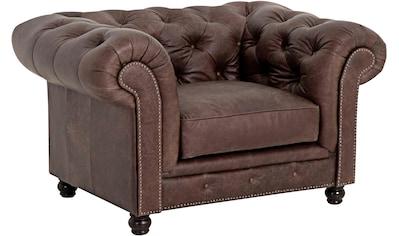 Max Winzer® Chesterfield-Sessel »Old England«, Ledersessel mit Knopfheftung & Ziernägeln kaufen