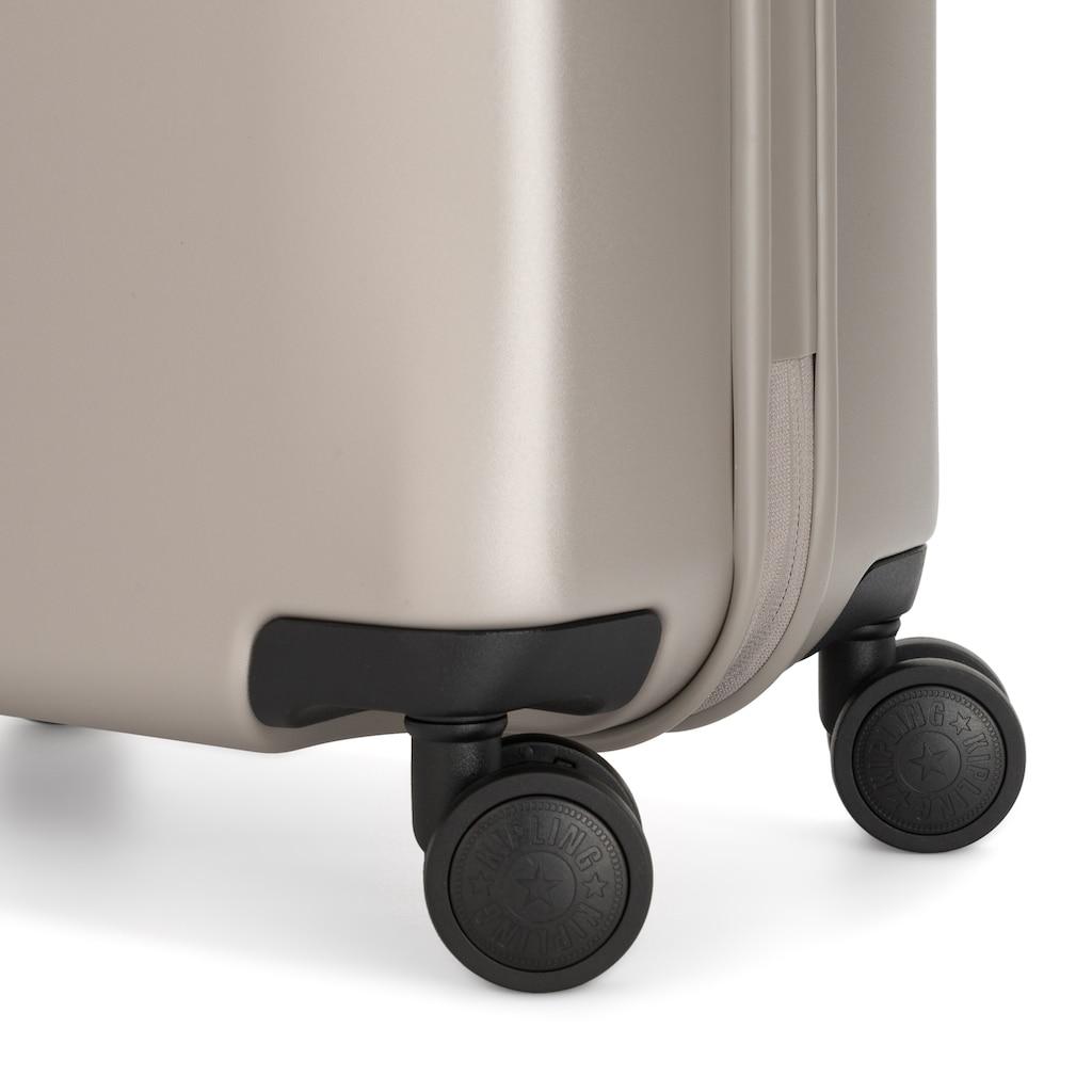 KIPLING Hartschalen-Trolley »Curiosity S, 55 cm, Metallic Glow«, 4 Rollen
