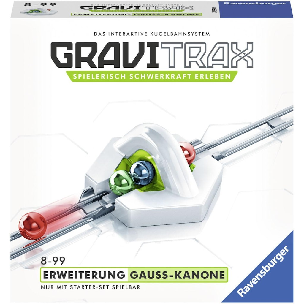 Ravensburger Kugelbahn »GraviTrax® Gauß-Kanone«, Made in Europe, FSC® - schützt Wald - weltweit