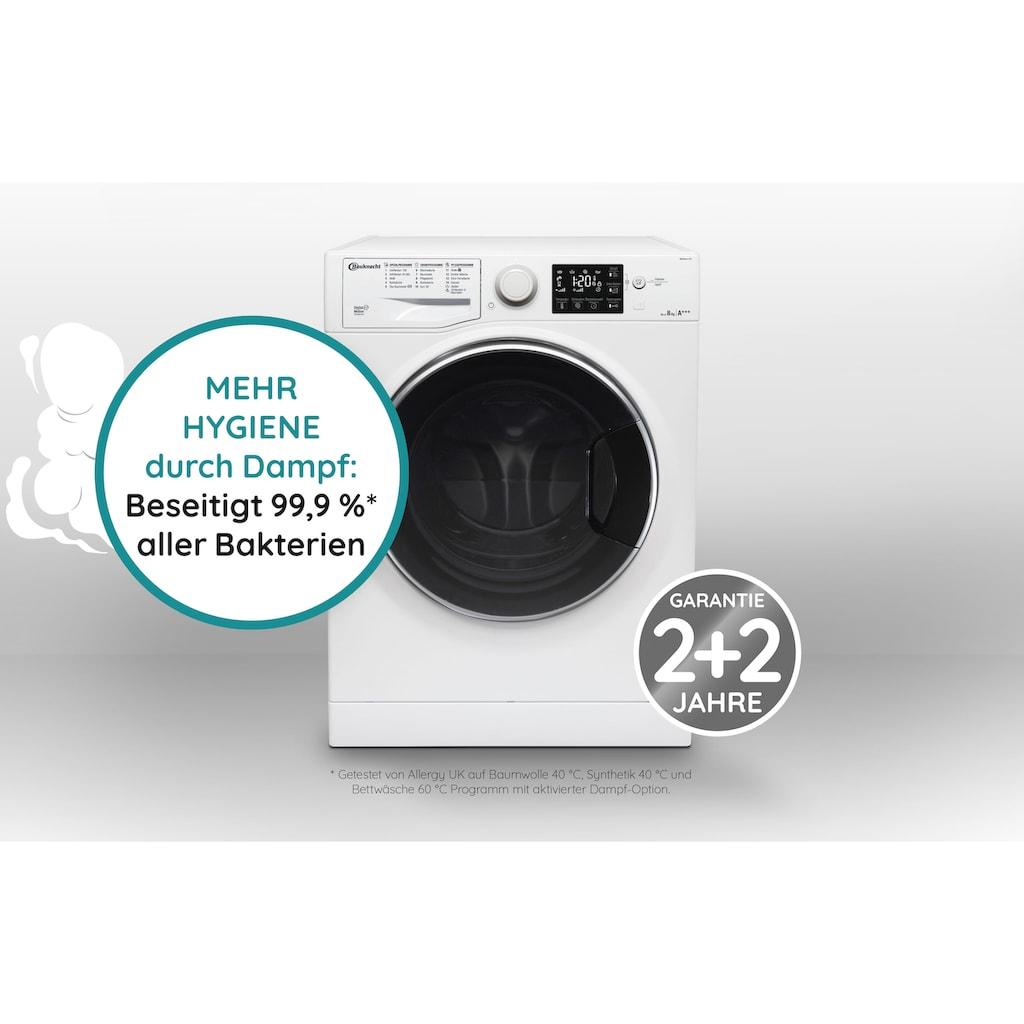 BAUKNECHT Waschmaschine »WM STEAM 100«, WM Steam 8 100, 4 Jahre Herstellergarantie