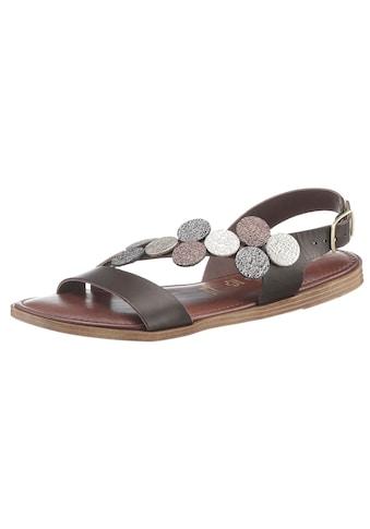 Tamaris Sandale »Isla«, mit modischen Metallic-Besätzen kaufen