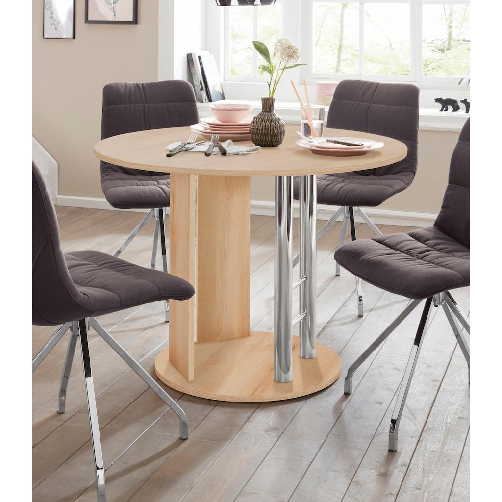 Home affaire Säulen-Esstisch »Rondell«, Breite 105-145 cm
