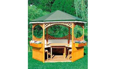 promadino Pavillon »Palma«, (Set), BxT: 308x308 cm, inkl. Sitzgruppe und Brüstung kaufen