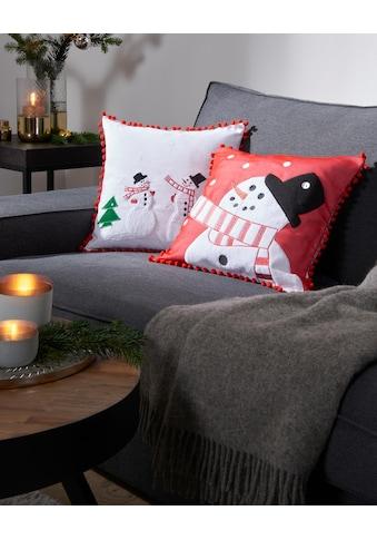 my home Kissenhülle »Schneemänner«, Weihnachtsdeko kaufen